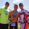 The 2016 edition of the Rocky Hill Triathlon was held on Sunday, March 6th.  Exeter's A. j. Reid won the Olympic distance of the Rocky Hill Triathlon of the Men. Here he is congratulated by Race Director Charles Duby and James Wilson of Sequoia Citrus.