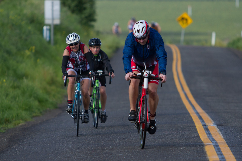 The 2016 edition of the Rocky Hill Triathlon was held on Sunday, March 6th. Cyclists make their way up Rocky Hill.