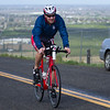 The 2016 edition of the Rocky Hill Triathlon was held on Sunday, March 6th. Triathlon participant Dave Harless of Clovis, CA cycles up Rocky Hill.