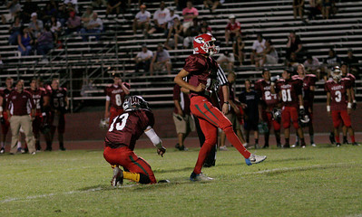 Lindsay placekicker Carlos Valdovinos kicks an extra point during the East-West High School Football All Star game on Saturday, June 22, 2013.