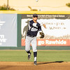 The 56th Exeter Lions East vs. West High School All-Star Baseball Game was played at Rawhide Stadium in Visalia on Saturday, June 4, 2016. Farmersville's Andrew Williamson (SS) makes the throw to 1st base on of a ground ball early in the all-star game.