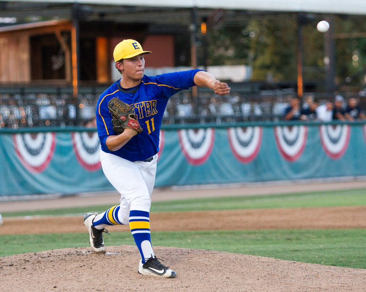 The 56th Exeter Lions East vs. West High School All-Star Baseball Game was played at Rawhide Stadium in Visalia on Saturday, June 4, 2016. Exeter star pitcher Tyler Rumbaugh used a great move to first base to pick a runner off first base in the middle of the all-star game.