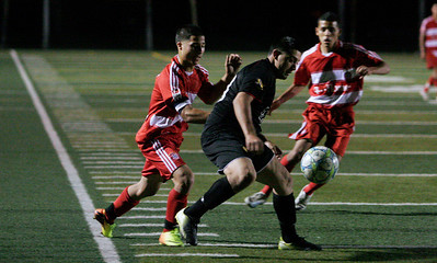 Action during the 5th Annual Tulare & Kings County Soccer All-Star game in Lindsay on Saturday, June 22, 2013.