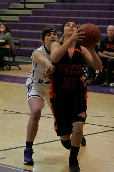 Woodlake Tigers 29 - Mission Oaks Hawks 52 in their opening game of the 5th Annual Tulare Mid-Winter Showcase Invitational Basketball Tournament.