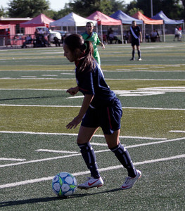 Lindsay's Janelly Rangel plays in the 5th Annual Tulare & Kings County All-Star Soccer game.