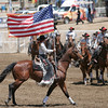 Old Glory was seen everywhere around the Woodlake Lions Rodeo arena during the 61st Annual Woodlake Lions Rodeo.