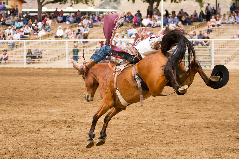 Thousands attended the 63rd edition of the Woodlake Lions Rodeo on Mothers Day weekend. Bareback riding was a popular event for both the crowd and the cowboys at the rodeo.