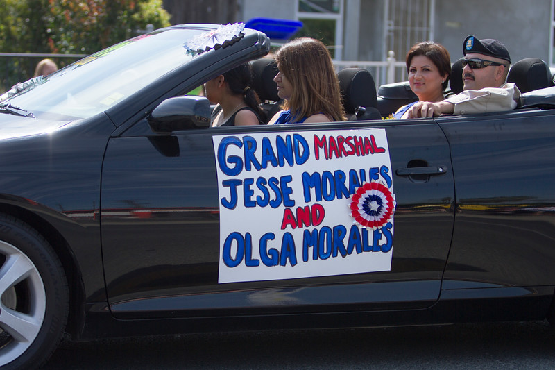 63rd Farmersville Memorial Day Parade Grand Marshal Jesse Morales and his wife, Olga Morales were honored by large crowds of parade viewers along the entire parade route.