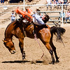 The 65th Annual Woodlake Lions Club Rodeo took place on Mother's Day weekend at the Woodlake Rodeo grounds in Elderwood. This bareback bronc rider fights to keep his mount.