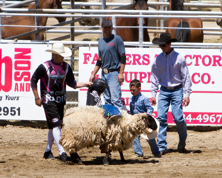 Mutton busting is always a popular event at the Springville Sierra Rodeo which took place on April 28-30.