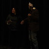 "Lindsay Community Theater will present ""A Christmas Carol"" on December 19th, 20th, and 21st in the Lindsay Theater. Ebenezer Scrooge (George Pearce) is visited by the Ghost of Christmas Past (Rosie Regalado)."