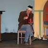 "Lindsay Community Theater will present ""A Christmas Carol"" on December 19th, 20th, and 21st in the Lindsay Theater. Ebenezer Scrooge (George Pearce) eats his soup after a long day at the counting house."