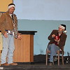 "Lindsay Community Theater will present ""A Christmas Carol"" on December 19th, 20th, and 21st in the Lindsay Theater. Ebenezer Scrooge (George Pearce) listens as Jacob Marley (Tom Moran) warns him of the appearances of three ghosts."