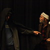"Lindsay Community Theater will present ""A Christmas Carol"" on December 19th, 20th, and 21st in the Lindsay Theater. Ebenezer Scrooge (George Pearce) is visited by the Ghost of Christmas Future (Isaac Mehciz)."