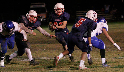 Strathmore RB Uriel Mejia averaged 5.18 yards/carry in the Spartan's 20-8 victory against Avenal.