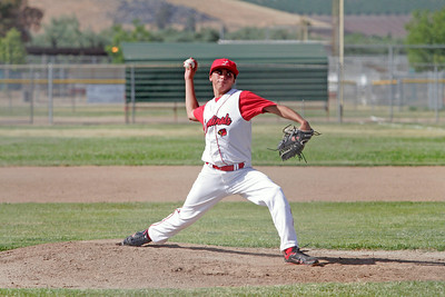 Lindsay Cardinal pitcher Julian Gonzalez delivers a pitch against  Corcoran on May 2, 2013.