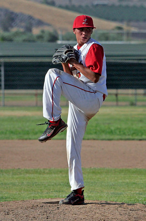 Lindsay pitcher Julian Gonzalez winds up against Corcoran on May 2, 2013.