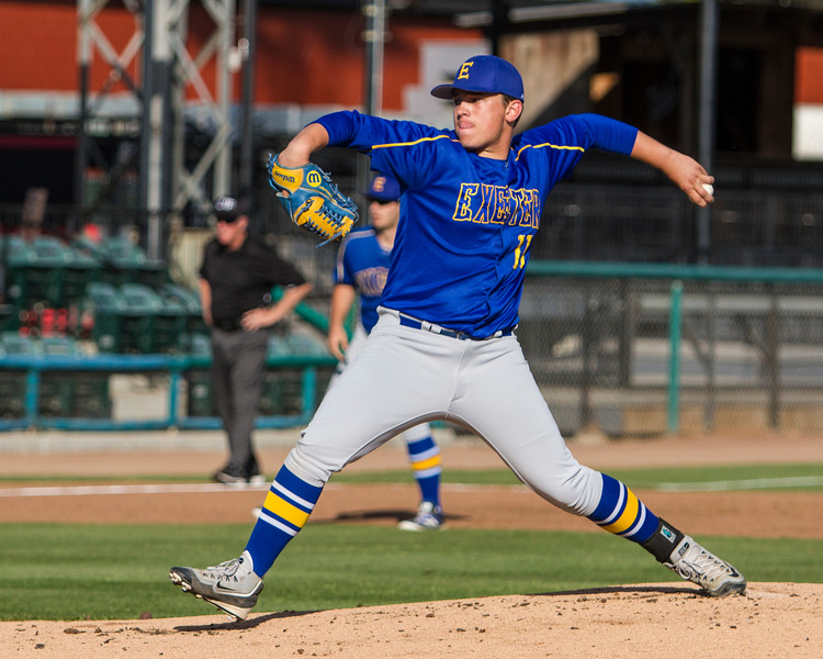 The Exeter Monarchs came up short in the small schools title game of the 32nd Annual Pro-PT Tulare-Visalia Invitational to the Central Valley Christian Cavaliers by a 5-0 score. Tyler Rumbaugh started the game at pitcher.