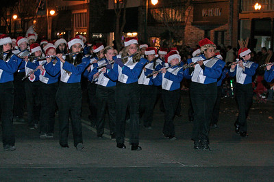 Wilson Middle School band marches during the Exeter Christmas Parade.