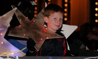 A participant in the Exeter Christmas Parade.