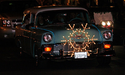 The Cruzin for Cash car group which is raising money for cancer victim Cash Shanks participated in the Exeter Christmas parade.