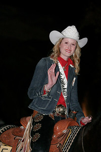 Wooklake Rodeo Queen for 2013 Amanda Lawrence at the Exeter Christmas Parade.