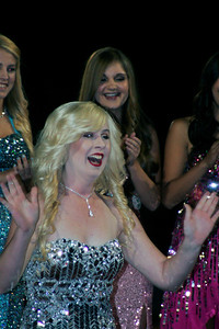 Chelsea Larson reacts to being announced as the Exeter High School 2013 Homecoming Queen.