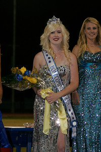 Chelsea Larson was named Exeter High School's Homecoming Queen during halftime of the Exeter vs. Yosemite High School football game on October 4, 2013.