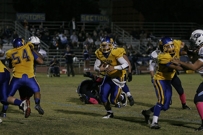Exeter Monarch Gus Canales had 5 carries for 61 yards in Exeter's 68-8 rout of Yosemite.
