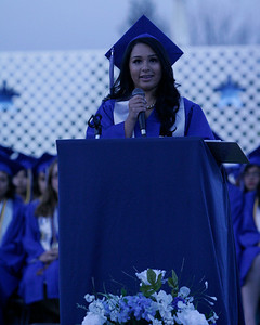 Karyssa Amezcua Sanchez addressed her fellow graduates and family and friends at the 2014 Farmersville High School Graduation Ceremony on Friday, June 6, 2014.