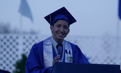 Cesar Jimenez, a Valedictorian for Farmersville High School's class of 2014 gave the Senior Class speech at Farmersville's 2014 Commencement.