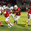 Lindsay Cardinal Daniel Trujillo (21) shredded the Fowler Redcats defense carrying the football 30 times for 263 yards and 4 touchdowns in the Cardinals 41-20 win over Fowler.