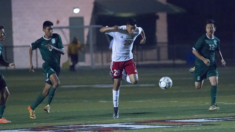 Lindsay defeated Garces Memorial 2-0 in CIF Division IV playoff action to advance to the quarterfinals against the Delano Tigers. The Cardinals overcame a smothering defense used by Garces Memorial.