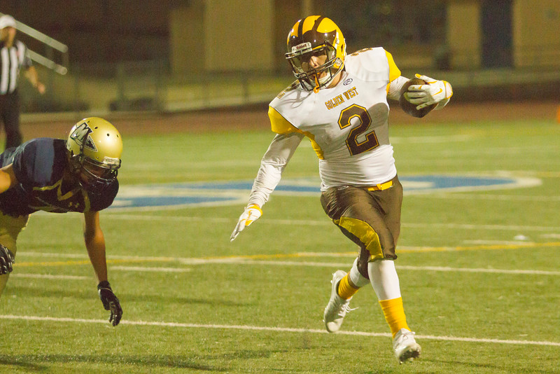 Golden West returned the opening kickoff for a touchdown and never looked back on their way to a 41-14 win over the host Monache Marauders.