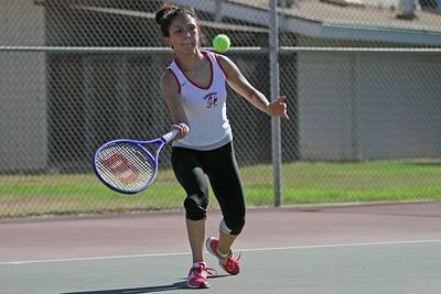 Lindsay Cardinal Ladies Tennis #1 seed Juana Moreno opened the season against Granite Hills on Thursday, August 28, 2014.