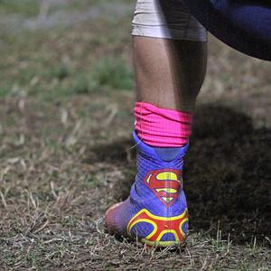 Farmersville Aztec QB Sam Metcalf's football cleats. Is he or isn't he?