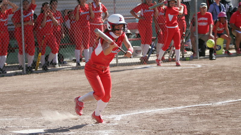 Lindsay Cardinal's Destiny Garcia was 2-4, R, and a stolen base in Lindsay's 4-3 win over Immanuel on Wednesday, May 14th.