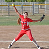 Lina Padilla (1) was the winning pitcher in the Lindsay Cardinals opening round 4-3 victory over the Immanuel Eagles on Wednesday, May 14th.