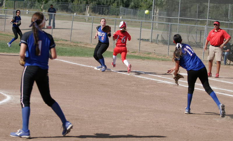 Lindsay Cardinal OF Destiny Garcia beat out two bunts for singles during the Cardinals 4-3 playoff win over Immanuel.