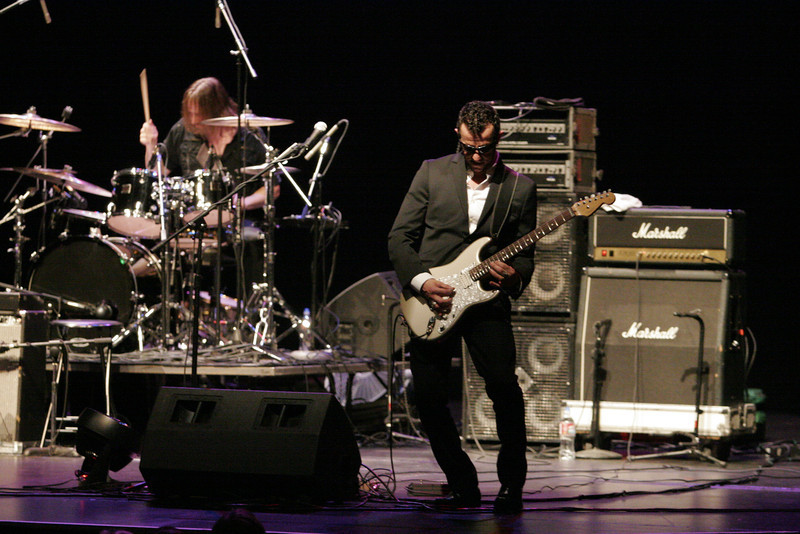 Guitarist Gary Hoey performed at the Junction Blues concert on Saturday, July 27th at the Visalia Fox Theater.