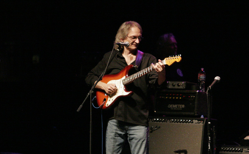 Guitarist Sonny Landreth plays during the concert at the Fox Theater in Visalia on Satruday, July 27th.