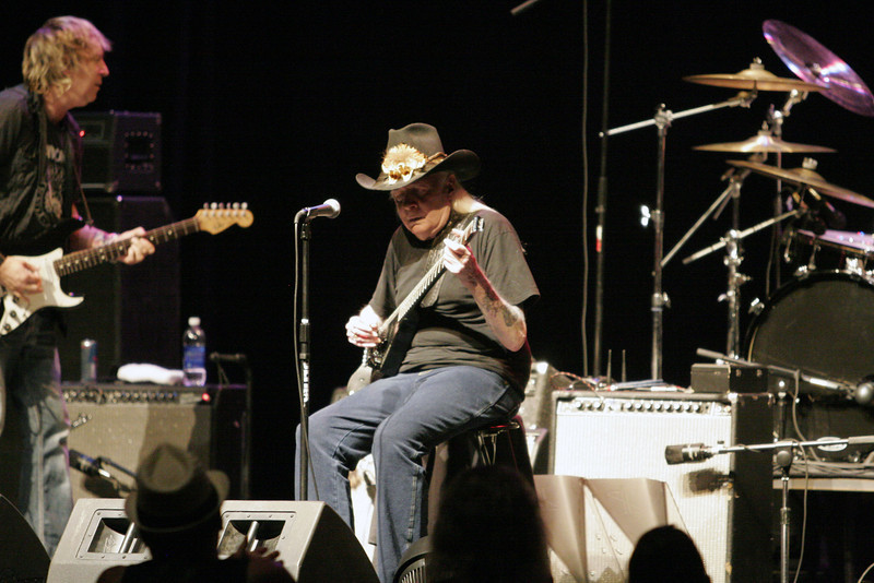 Johnny Winter headlined the Junction Blues concert on Saturday, July 27th at the Visalia Fox Theater.