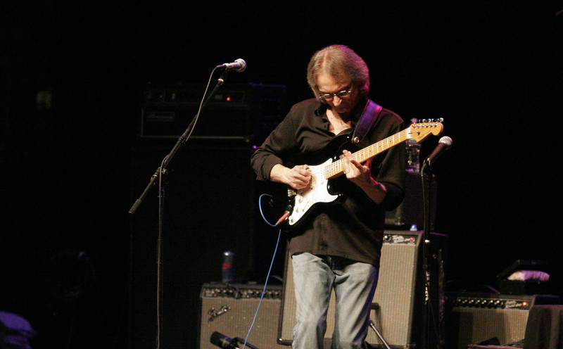 Sonny Landreth was the opening act at the Fox Theater in Visalia. The concert featured Sonny Landreth, Gary Hoey, and Johnny Winter.