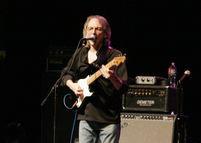 Guitarist Sonny Landreth sings one of his original songs during the Junction Blues concert at the Fox Theater on July 27, 2013.