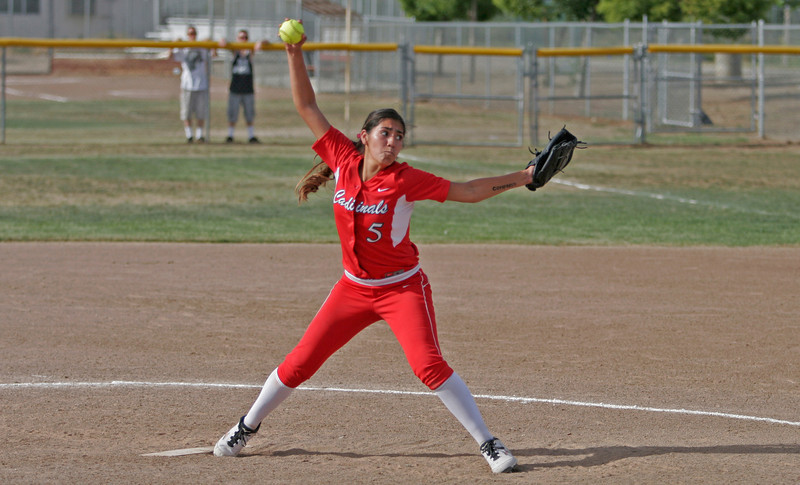 Lindsay pitcher Lina Padilla left it all on the field in the Cardinals quarterfinal playoff loss to the Kern Valley Broncos on May 16th.