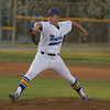 Tyler Rumbaugh (11) pitched the Exeter Monarch to the Central Sequoia League title against the Kingsburg Vikings. The Monarch came away with a 3-0 victory.