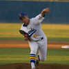 Exeter Monarch pitcher Tyler Rumbaugh (11) allowed just 3 hits in 4 innings of work during the Monarch's 3-0 victory over the Kingsburg Vikings. The Monarch win clinched the CSL title for the Monarchs.