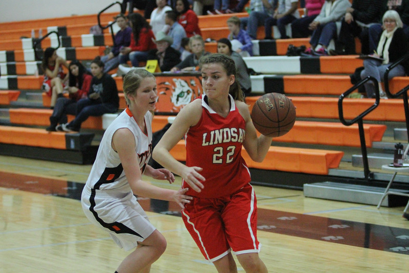 The Lindsay Cardinals defeat the Woodlake Tigers 58 - 46 in ESL league play on January 20th. Maddie Caesar had 17 points and 13 rebounds for the Cardinals.