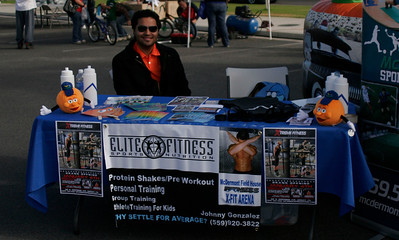 The McDermont Fieldhouse booth at the Lindsay Health & Fitness Fair on Saturday, November 9th.