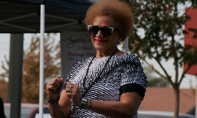 One of the Porterville dancers enjoys herself at the Lindsay Health & Fitness Fair.